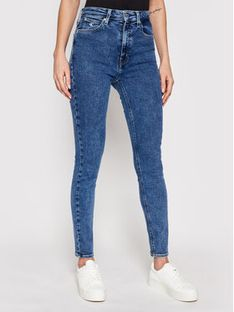 Calvin Klein Jeans Jeansy High Rise J20J215787 Granatowy Skinny Fit