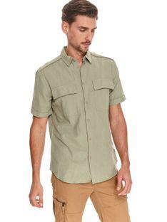 Koszula z lnem taliowana