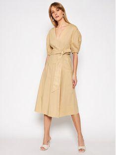 TwinSet Sukienka codzienna 211TT2490 Brązowy Regular Fit