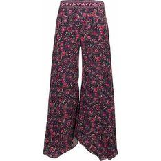 Spodnie damskie Coline wielokolorowe w kwiaty