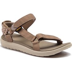 Sandały damskie Teva bez wzorów płaskie bez obcasa z tworzywa sztucznego z klamrą