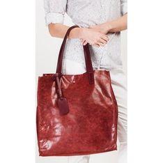 Shopper bag Merg czerwony