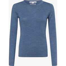 Niebieski sweter damski Brookshire z okrągłym dekoltem