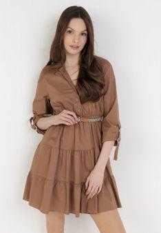 Ciemnobeżowa Sukienka Fogmane