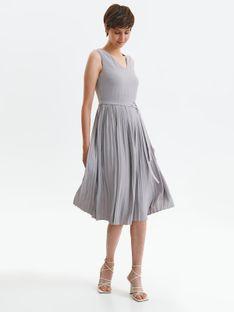 Sukienka midi z plisowanym dołem
