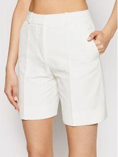 Victoria Victoria Beckham Szorty materiałowe Double Cloth 2220WSR001360A Biały Regular Fit