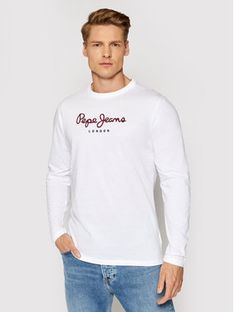 Pepe Jeans Longsleeve Eggo Long PM501321 Biały Regular Fit
