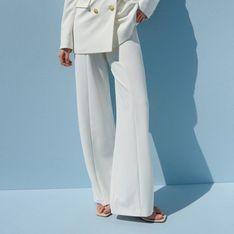 Reserved - Eleganckie spodnie garniturowe - Kremowy