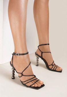 Czarne Sandały Athia