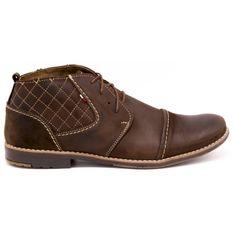 Olivier Pikowane buty męskie 254 brązowe