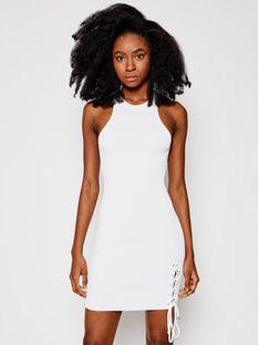 Guess Sukienka dzianinowa W1GK90 Z2U00 Biały Slim Fit