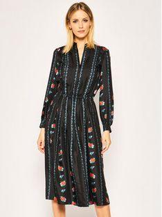 Tory Burch Sukienka codzienna Printed 65200 Czarny Regular Fit