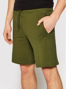 Guess Szorty sportowe Nigel M1GD54 K6ZS1 Zielony Slim Fit