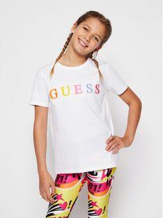 Guess T-Shirt H1RJ04 K8HM0 Biały Regular Fit