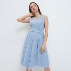 Mohito - Sukienka z kopertowym dekoltem - Niebieski