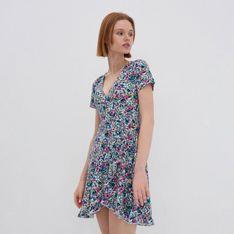 House - Kopertowa sukienka w kwiaty - Wielobarwny