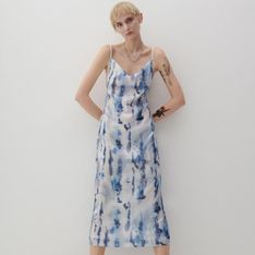 Reserved - Cekinowa sukienka na ramiączkach - Wielobarwny