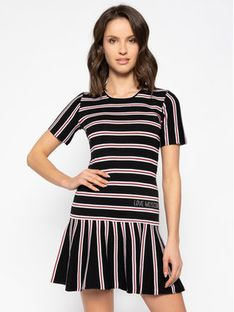 LOVE MOSCHINO Sukienka codzienna WSR8890X 0795 Czarny Regular Fit