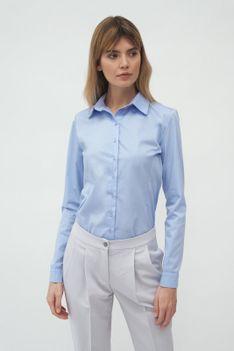 Klasyczna Koszula z Kołnierzykiem - Błękitna
