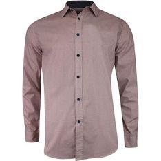 Koszula męska fioletowa Just yuppi z długimi rękawami w abstrakcyjnym wzorze z klasycznym kołnierzykiem