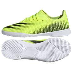 Buty piłkarskie adidas X Ghosted.3 In Jr FW6924 zielone biały, żółty neon