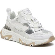 Buty sportowe damskie Karl Lagerfeld sneakersy białe sznurowane na platformie