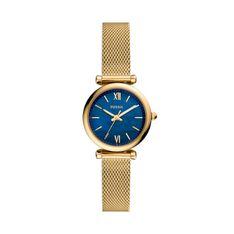 Zegarek FOSSIL - Carle Mini ES5020  Gold/Blue