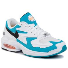 Buty NIKE - Air Max2 Light AO1741 100 White/Black/Blue Lagoon