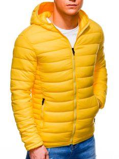 Kurtka męska wiosenna pikowana 465C - żółta