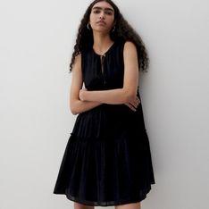 Reserved - Bawełniana sukienka - Czarny
