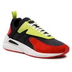 Sneakersy DIESEL - S-Serendipity Low Cut Y02547 P3810 H8404 Black/Fiery Red