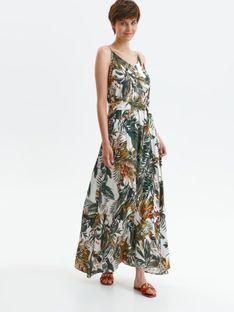 Letnia sukienka maxi w egzotyczny wzór