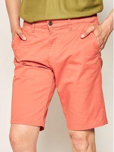 Wrangler Szorty materiałowe Chino W14AWAR03 Pomarańczowy Regular Fit