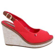 Sandałki na koturnie czerwone BL-71 Red