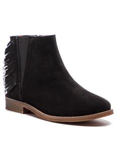 Pepe Jeans Trzewiki Nelly Fringes PGS50127 Czarny