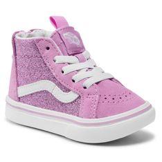 Sneakersy VANS - Comfycush Sk8-Hi VN0A4VJN31P1 (Glitter) Orchid/True Wht