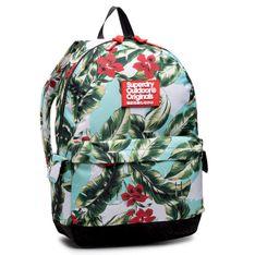 Plecak SUPERDRY - Hawaiin Montana W9110130A  Mint Indo Leaf