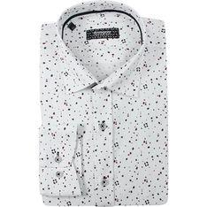 Koszula męska biała Grzegorz Moda bawełniana w stylu młodzieżowym