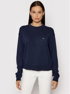 Tommy Jeans Sweter DW0DW09984 Granatowy Relaxed Fit