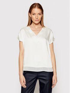 DKNY Bluzka P0RA7CLZ Biały Regular Fit