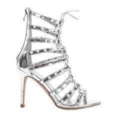 Srebrne sandały na szpilce The Twist srebrny