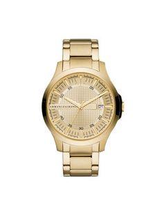 Armani Exchange Zegarek Hampton AX2415 Złoty