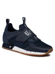 EA7 Emporio Armani Sneakersy X8X066 XK199 N440 Granatowy
