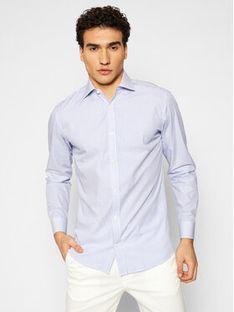 Jack&Jones PREMIUM Koszula Blaroyal 12185316 Niebieski Slim Fit