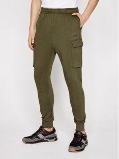 Sprandi Spodnie dresowe SS21-SPM002 Zielony Regular Fit