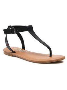 Tommy Jeans Sandały Essential Toe Post Flat Sandal EN0EN01316 Czarny