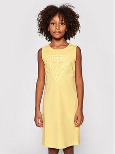 Guess Sukienka codzienna J92K57 K82F0 Żółty Regular Fit