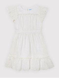 Mayoral Sukienka elegancka 6924 Biały Regular Fit