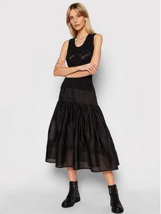TwinSet Sukienka dzianinowa 211TT3201 Czarny Slim Fit