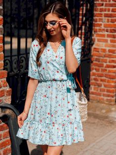 Sukienka damska 018DLR - miętowa